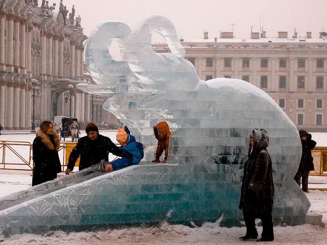 Галерея ледовой скульптуры, ледяных скульптур, русской ледовой скульптуры - картинки, фото.
